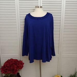 JMS cobalt blue popover top.